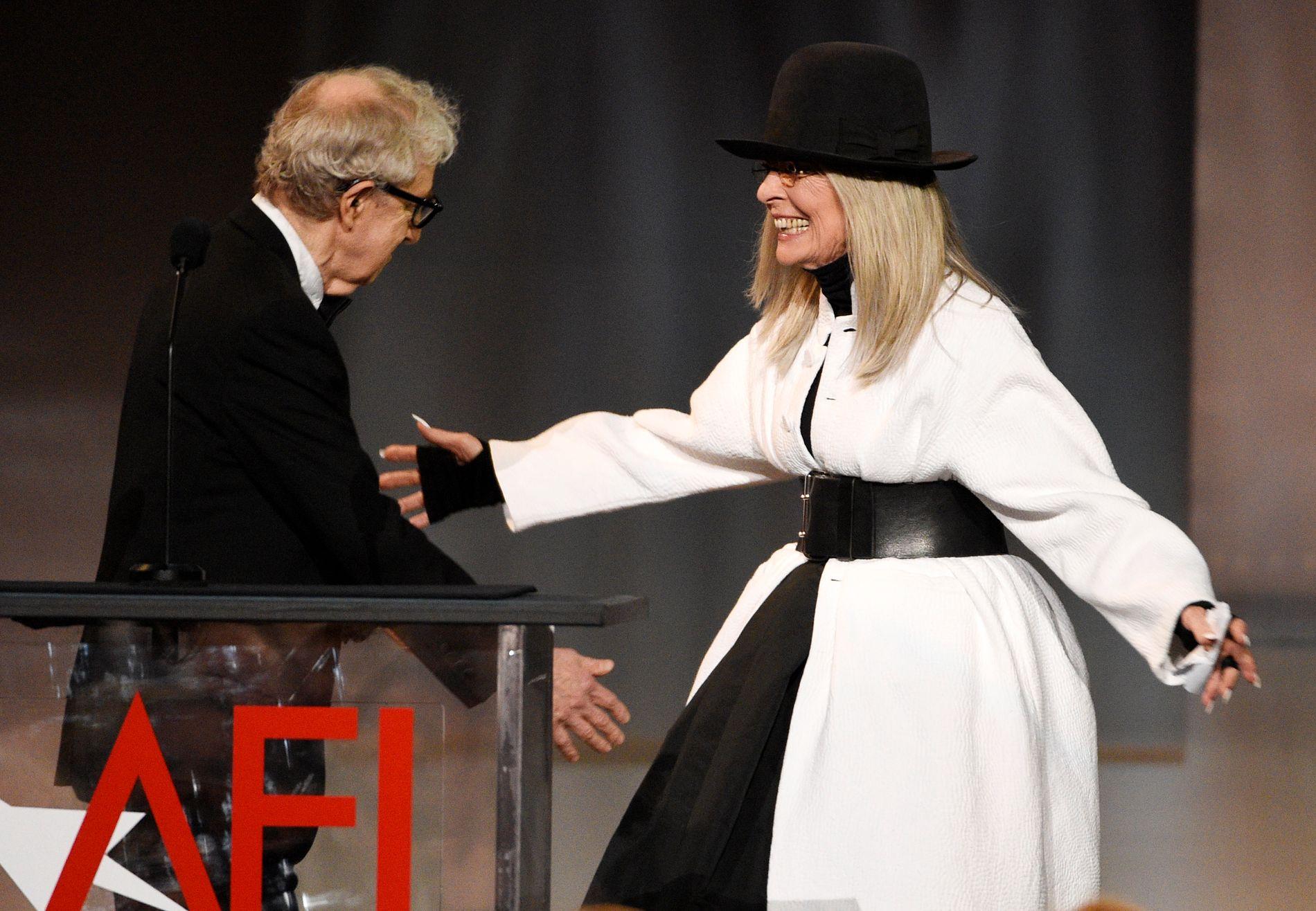 SAMARBEIDSPARTNERE: Skuespiller Diane Keaton har spilt i flere av Woody Allens filmer.