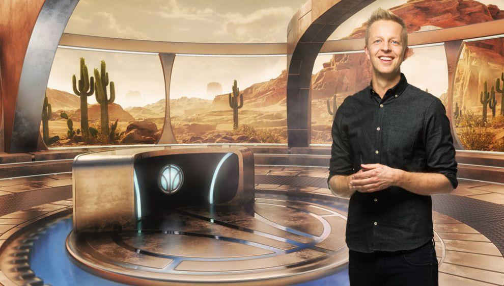 PROGRAMLEDER: Frithjof Nilsen leder TV-satsingen «Lost in Time», hvor seerne kan delta fra sofakroken. I programmet blir virkelige mennesker plassert inn i en virtuell verden.