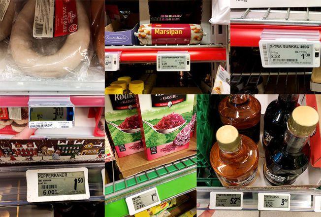 TIDENES PRISDUMPING: Lavpriskjedene er livredde for å komme dårligst ut og dumper derfor prisene kraftig på flere julematvarer. Matprodusentene synes ikke noe om tidenes prisdumping på mat.
