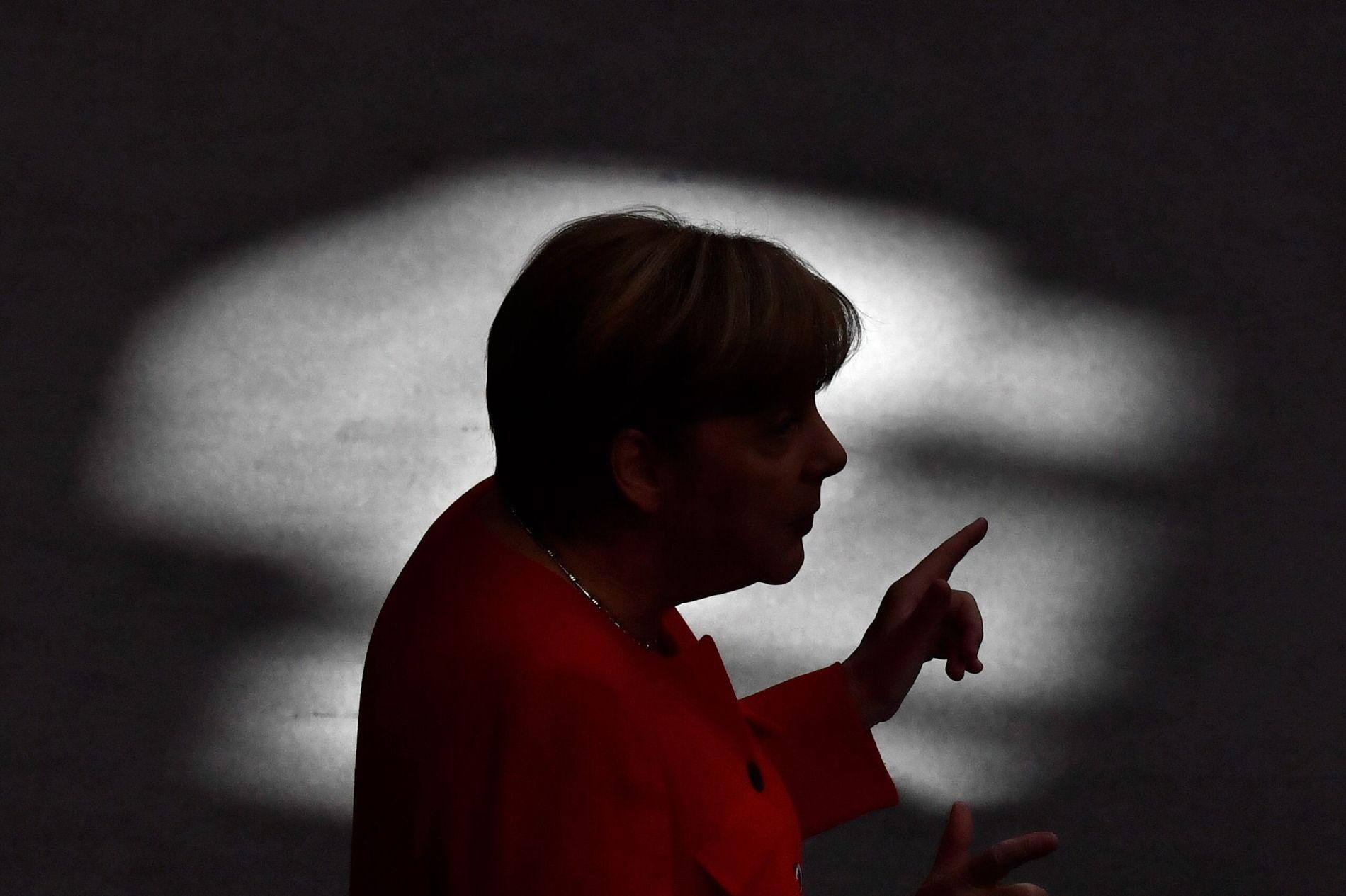 VALGKAMP: Tysklands forbundskansler Angela Merkel taler til medlemmene av Forbunsdagen i Berlin tidligere denne uken.