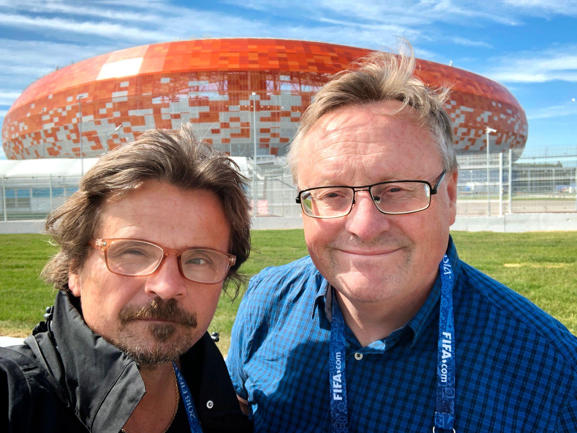 VG I SARANSK: Bjørn S. Delebekk (foto) og Ole Kristian Strøm (foto)