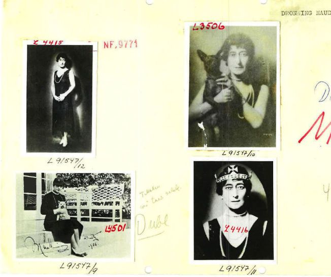 STRIDENS KJERNE: Disse bildene av dronning Maud ble tatt i forbindelse med hennes 60-årsdag i 1929.