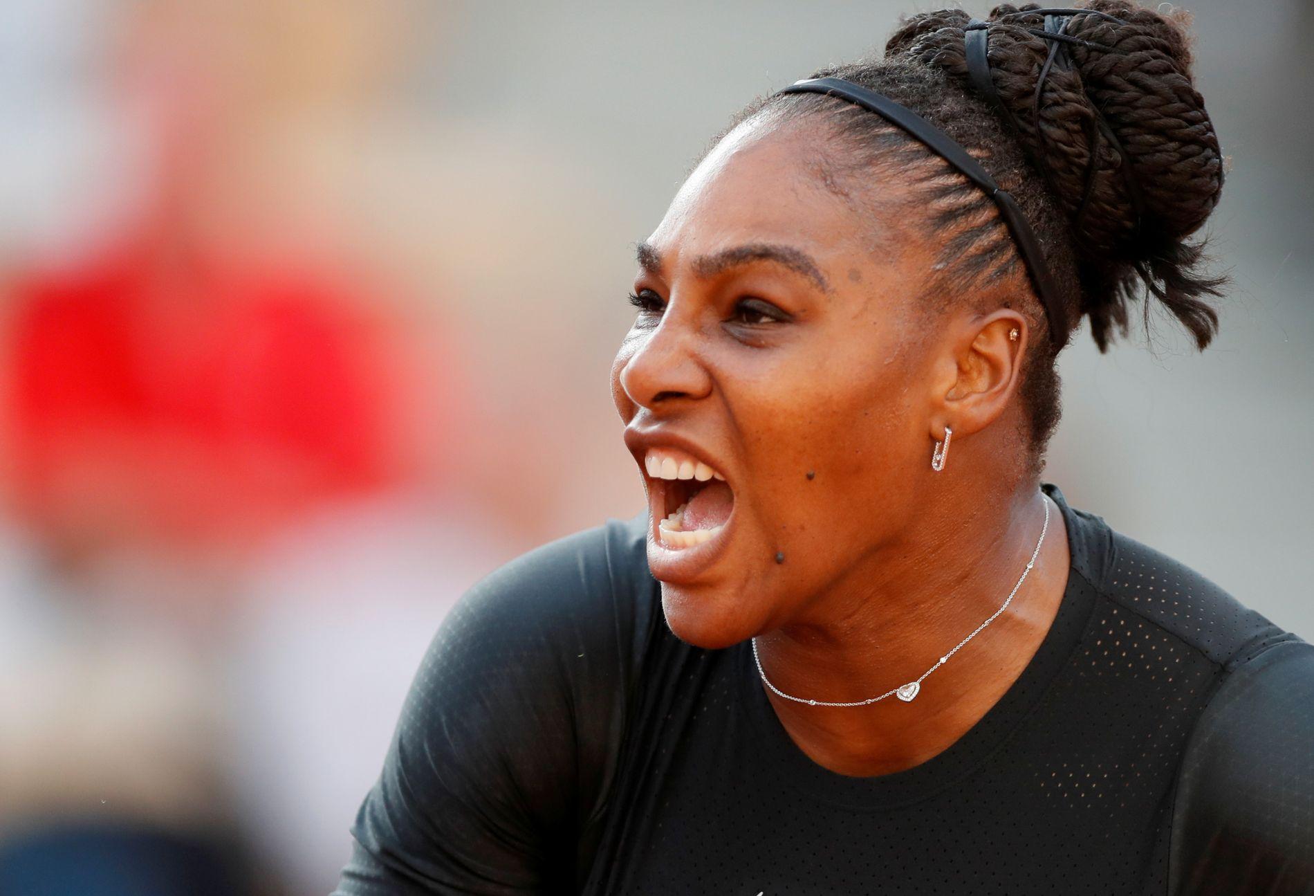 UTENFOR 100-LISTEN: Serena Williams i aksjon i det pågående French Open.
