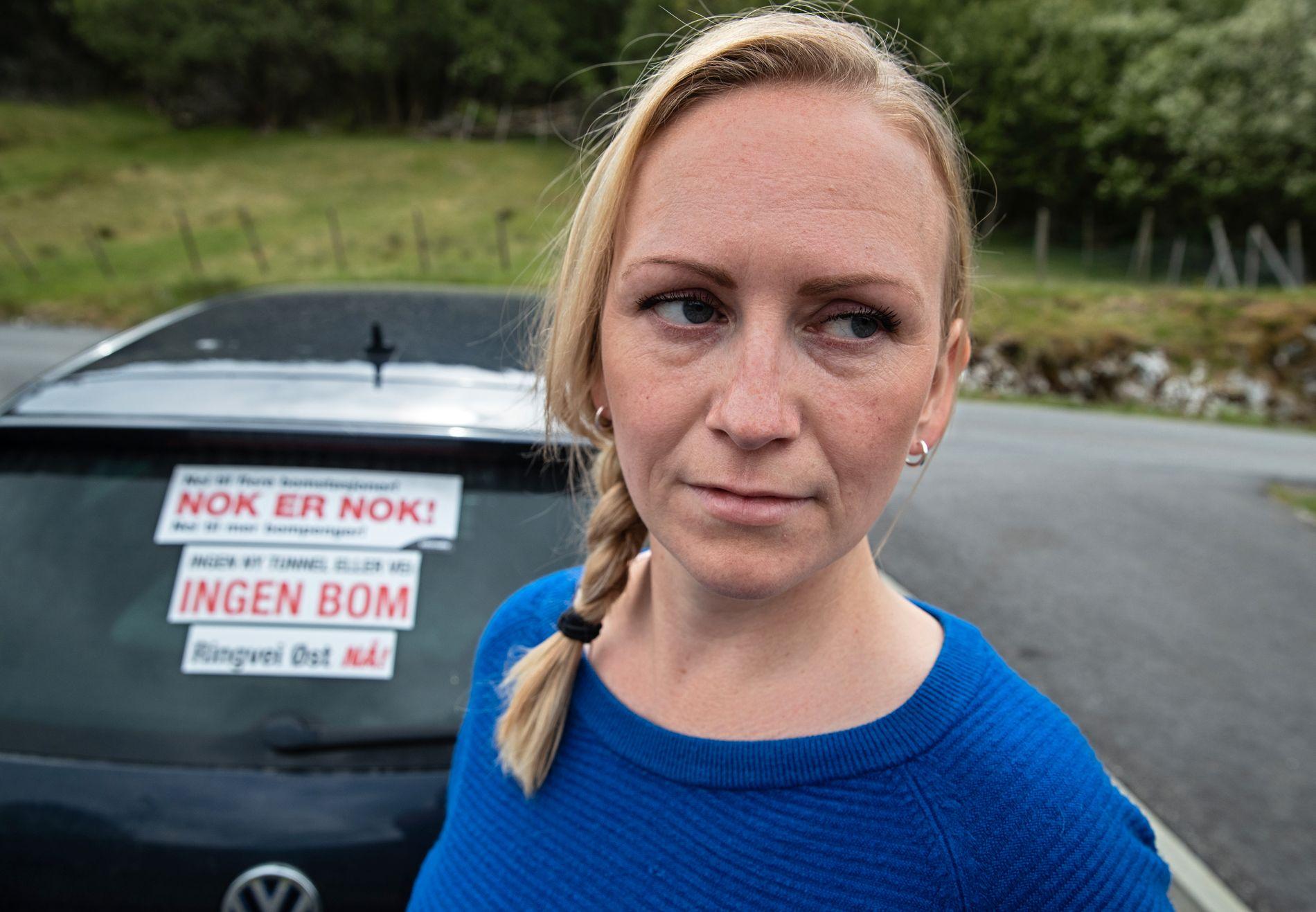 ENGASJERT: Therese Børholm (37) sitter i styret i velforeningen på Hetlebakken i Bergen, og har engasjert seg i kampen mot bompenger.