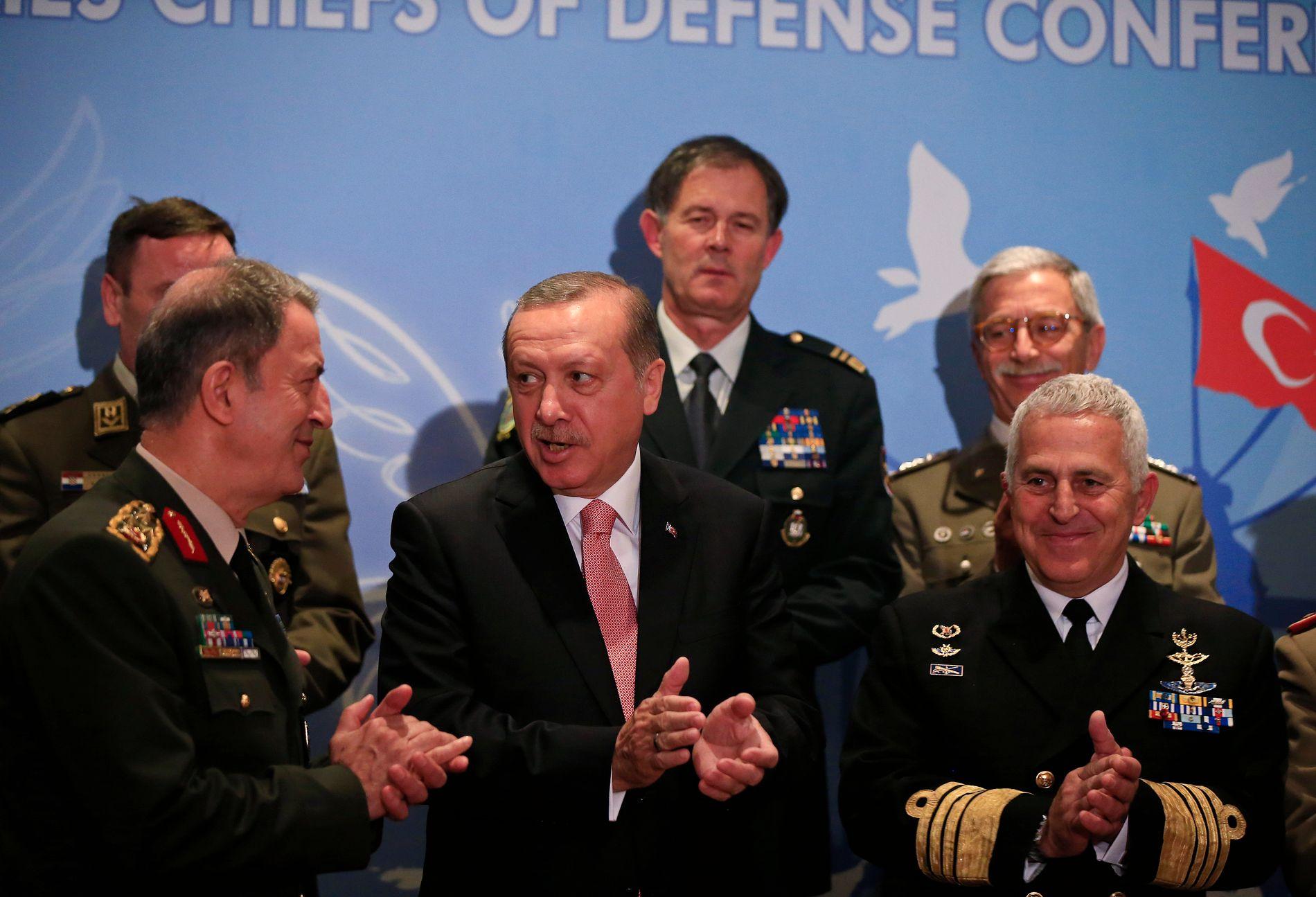 FORSØKT STYRTET: Militære styrker gjennomførte i natt et kuppforsøk mot Tyrkias president Recep Tayyip Erdogan.