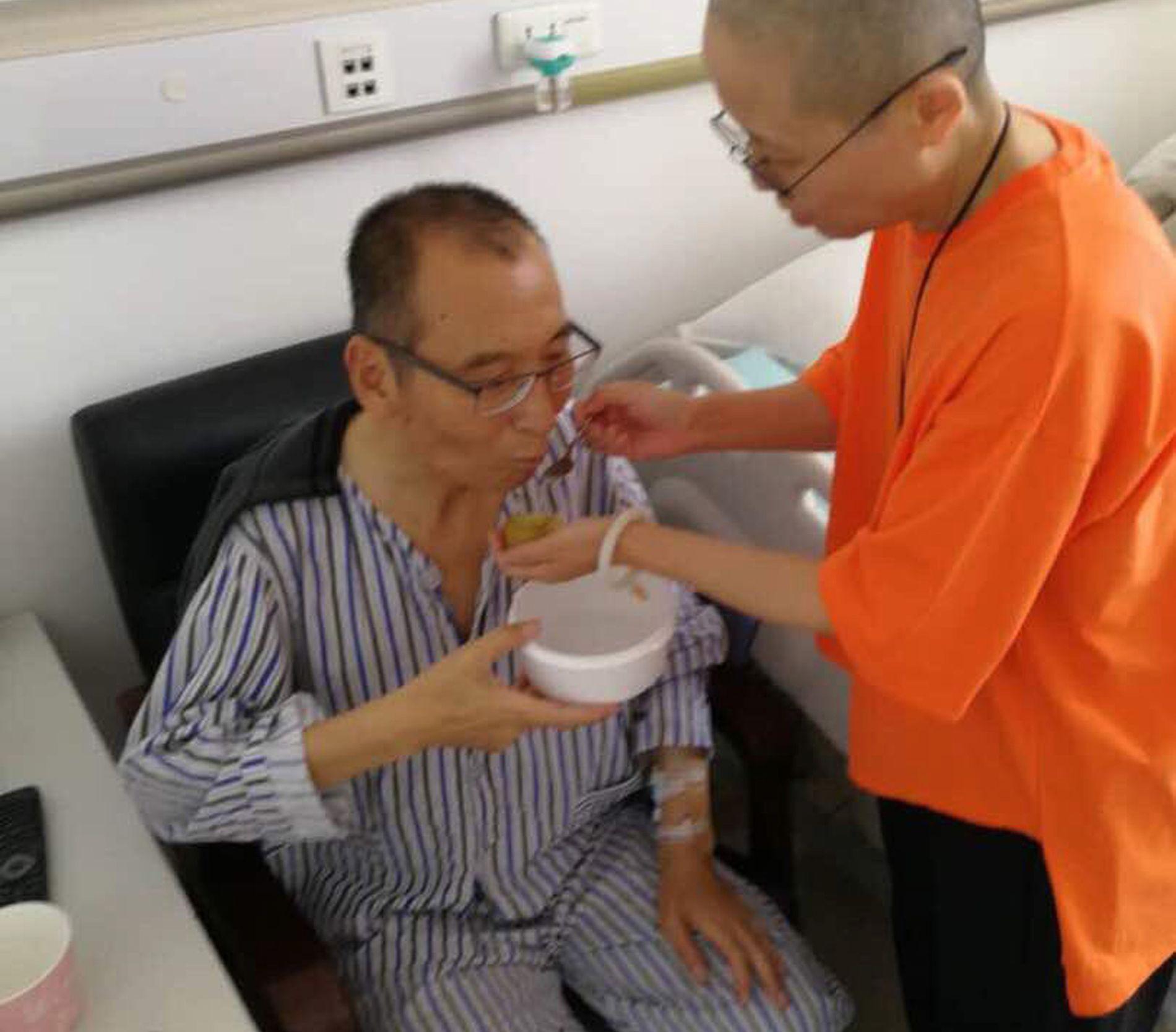KREFTSYK: Den kinesike dissidenten får behandling på et sykehus i Shenyang.