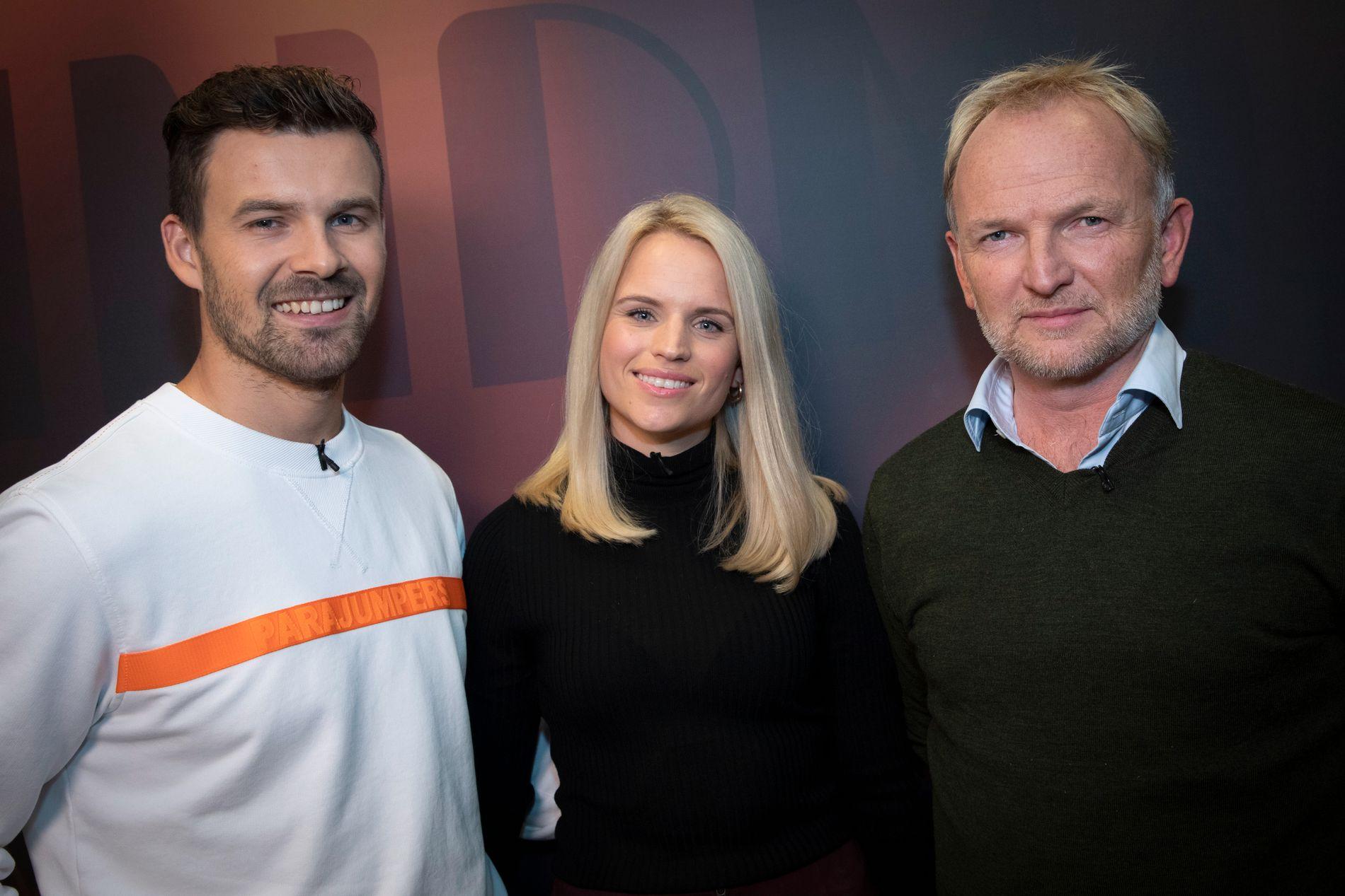 LIVREDDERE: Langrennsløper Sondre Turvoll Fossli (til venstre) sier at kjæresten Henriette Mork og den forbipasserende syklisten Pål Even Jahren reddet livet hans da han fikk hjertestans.