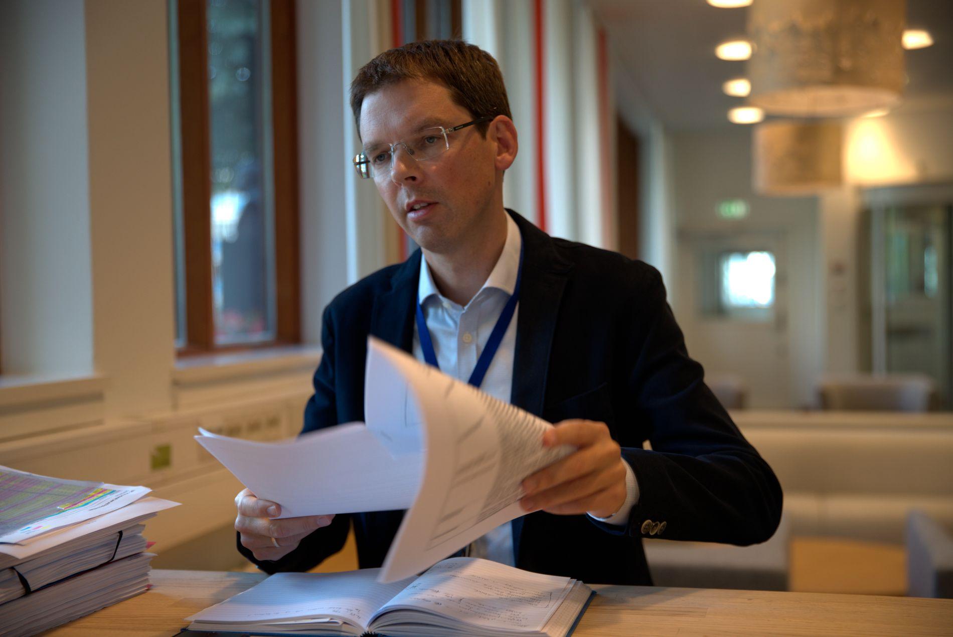 KOMMUNIKASJONSDIREKTØR: Frode O. Andersen leder Utenriksdepartementets kommunikasjonsavdeling.
