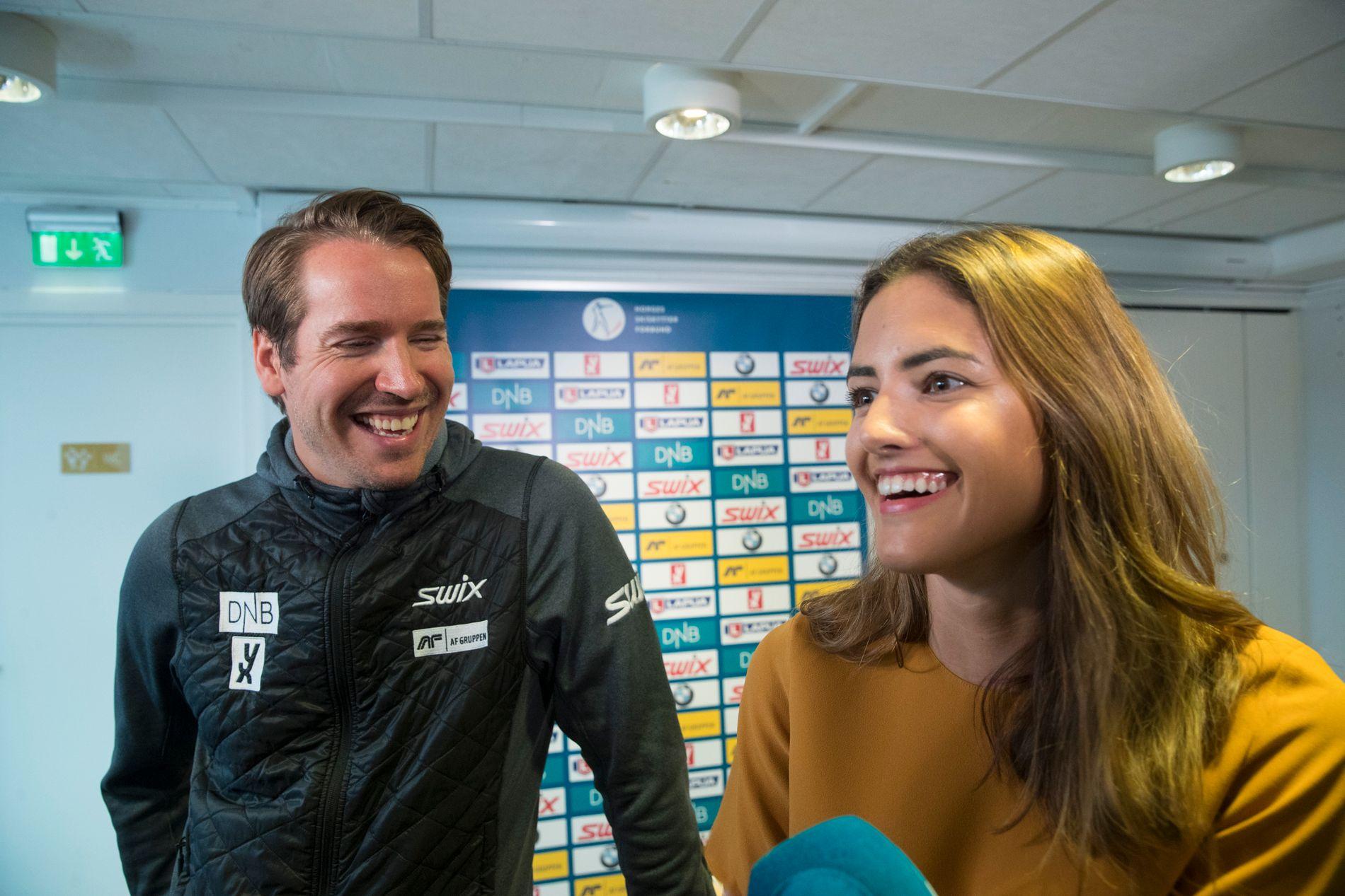 FULLT HUS: Tidligere skiskytter Emil Hegle Svendsen og forloveden Samantha Skogrand venter sitt første barn.