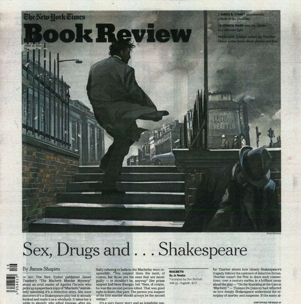 Forsiden av New York Times Book Review søndag 22. april.