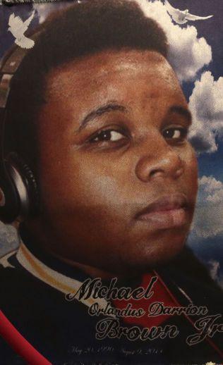 DREPT: Michael Brown (18) fra Ferguson.