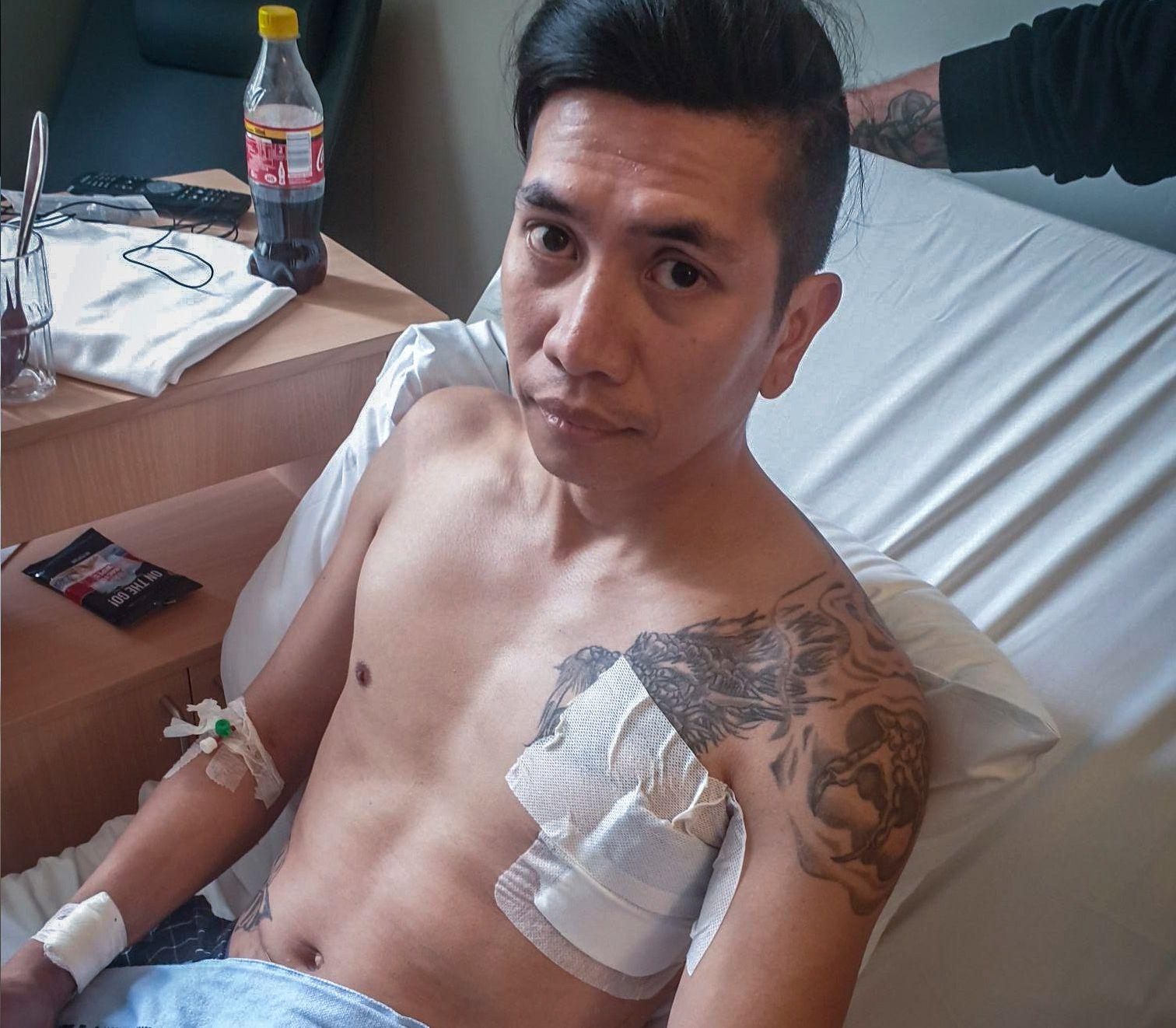 TILFELDIG OFFER: Lehnon Dominguez ble angrepet av en mann med kniv på vei til jobb tirsdag.