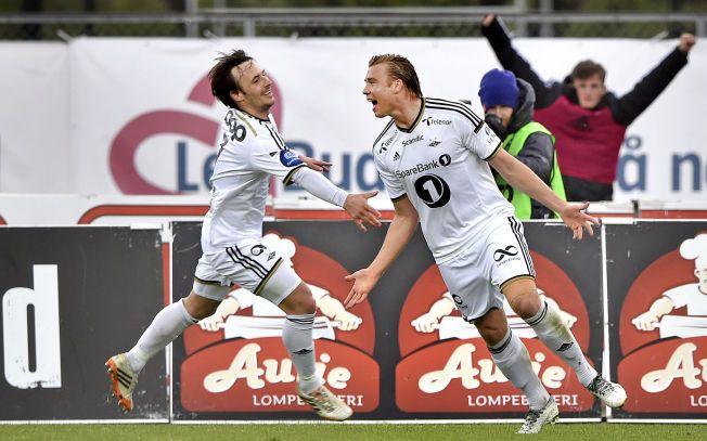 SPILL-OBJEKT: Rosenborgs Alexander Søderlund jubler sammen med Mike Jensen etter scoring. Skal det fortsatt bli mulig å spille på dem gjennom utenlandske spillselskaper på nettet?