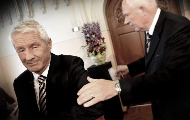 UFRED: Nobel-direktør Geir Lundestads (t.h.) oppgjør med komitéformann Thorbjørn Jagland risikerer å vri fokus vekk fra årets fredsprisvinnere.