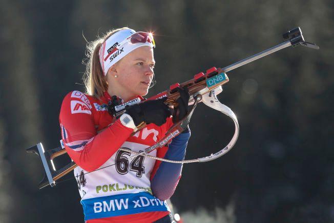 KARRIEREBESTE: Kaia Wøien Nicolaisen, her avbildet under en sprint i Pokljuka for to år siden, gikk inn til niendeplass i USA i dag.