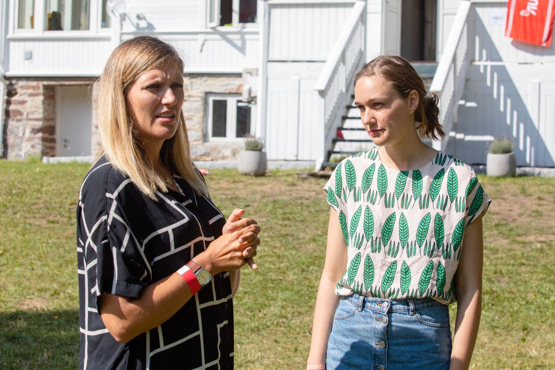 SAMLET: ICANs Beatrice Fihn og AUF-leder Ina Libak mener tiden er inne for at Norge burde signere et atomvåpen-forbud.