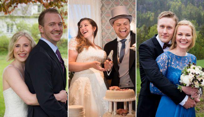 6124ed5f NYGIFT: Disse tre parene giftet seg ved første øyekast i vår. Torsdag  dukker de opp på TV-skjermen. VG har snakket med alle. Foto: CHRISTINE HEIM  , TVN