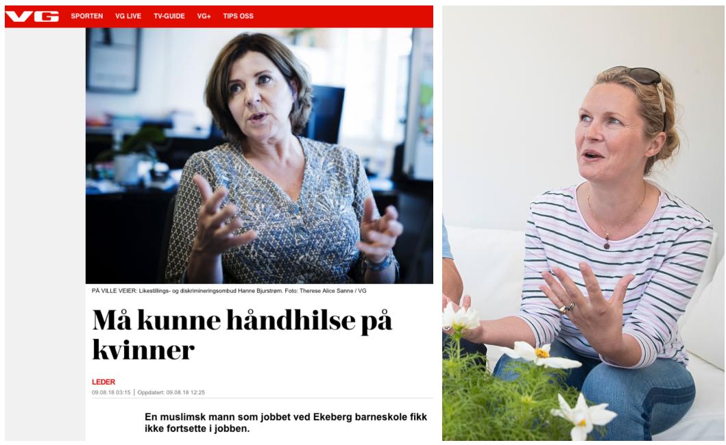 PROVOSERT: Catharina Munthe reagerer på likestillings- og diskrimineringsombud Hanne Bjurstrøms uttalelser i håndhilse-saken.