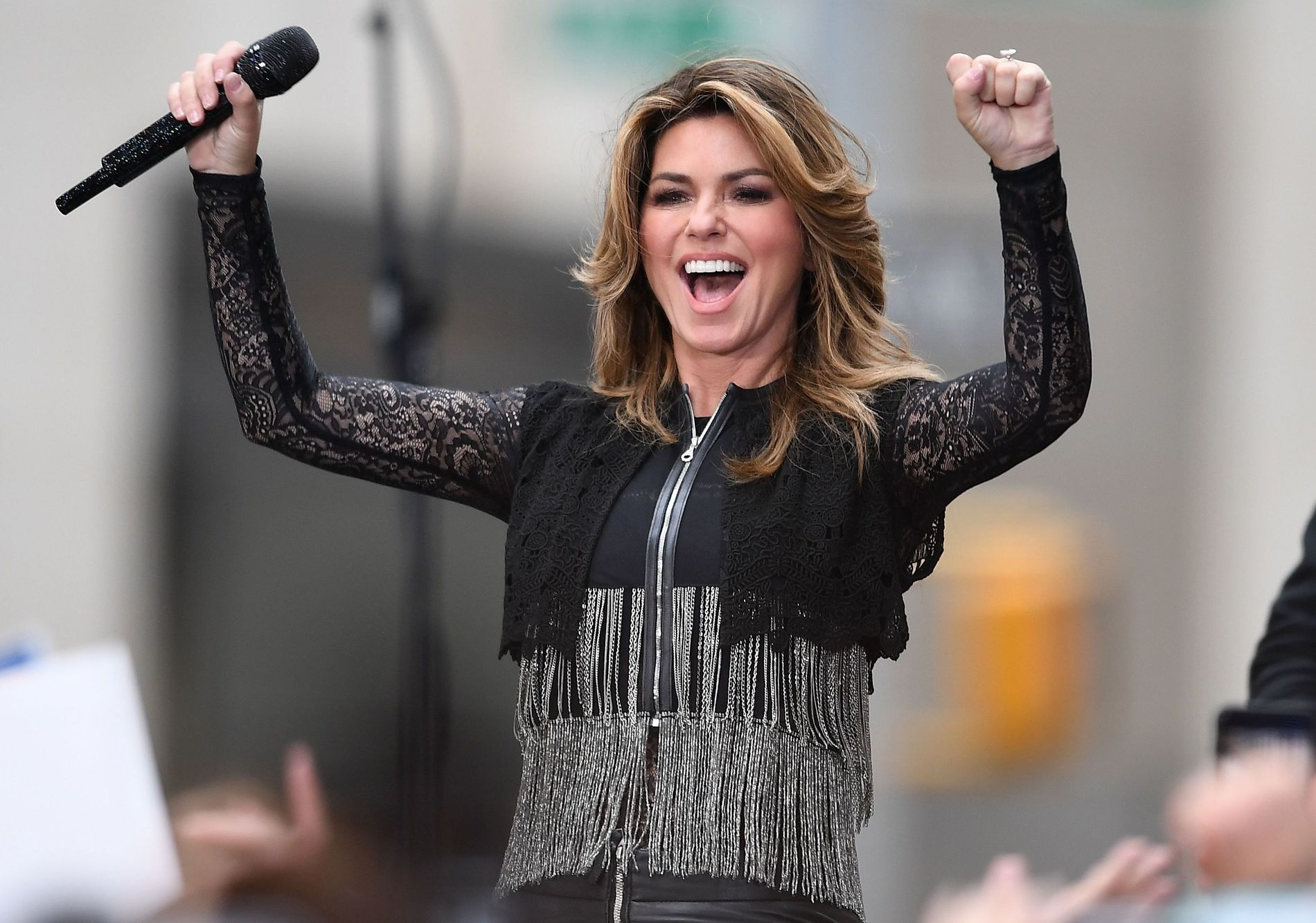 OPPTREDEN: Shania Twain på «The Today Show» i New York fredag.