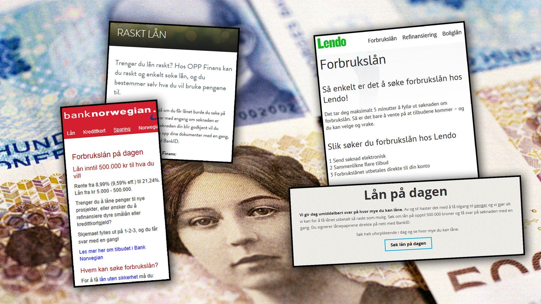 KAN BLI FORBUDT: Nordmenns forbrukslån vokser eksplosivt. Finanstilsynet mener at markedsføringen er «meget aktiv».