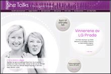 MOBILSELSKAP FOR KVINNER: SheTalks. Foto: Hjemmesiden til SheTalks