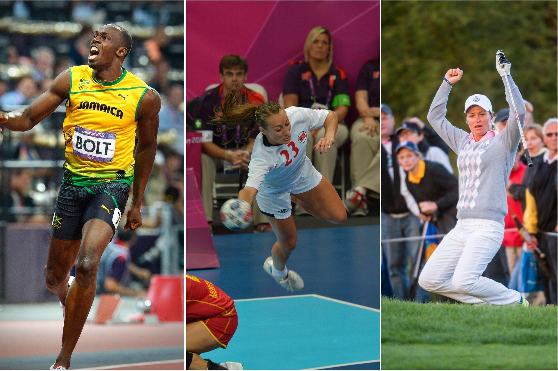 HØYDEPUNKTER: Usain Bolt fra hans gull på 100 meter i 2012. Håndballjentene er regjerende mester etter gull fra samme mesterskap. Suzann «Tutta» Pettersen deltar i det første Golf-OL siden 1904. De står for tre av høydepunktene i Rio-OL.