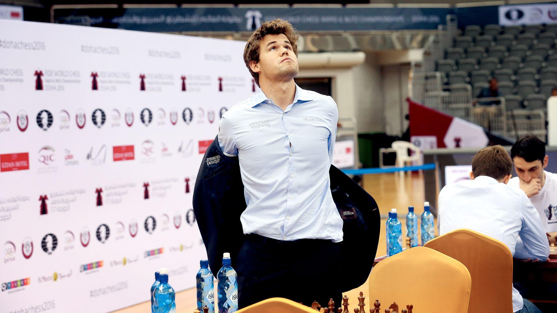SKUFFET:  Magnus Carlsen var skuffet over å miste VM-gullet i lynsjakk.