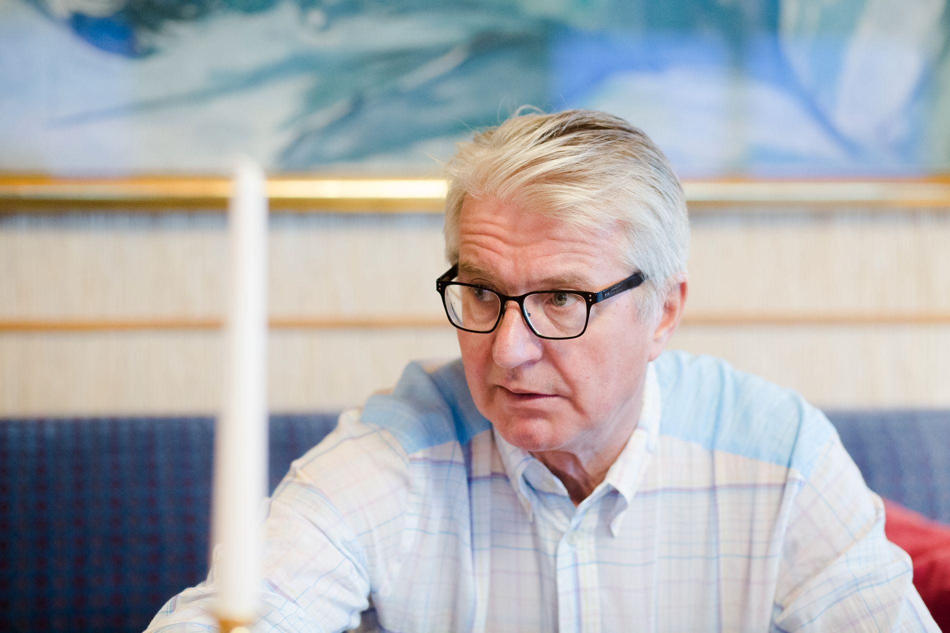 DAGEN ETTER: Dette bildet er tatt dagen etter kommunevalget i fjor høst, da det var klart at Høyre hadde tapt makten.