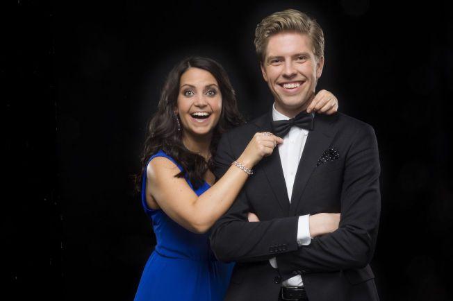 KLARE: Cecilie Steinmann Neess og Jakob Schøyen Andersen er klare til å starte med forberedelsene til årets «Gullruten».