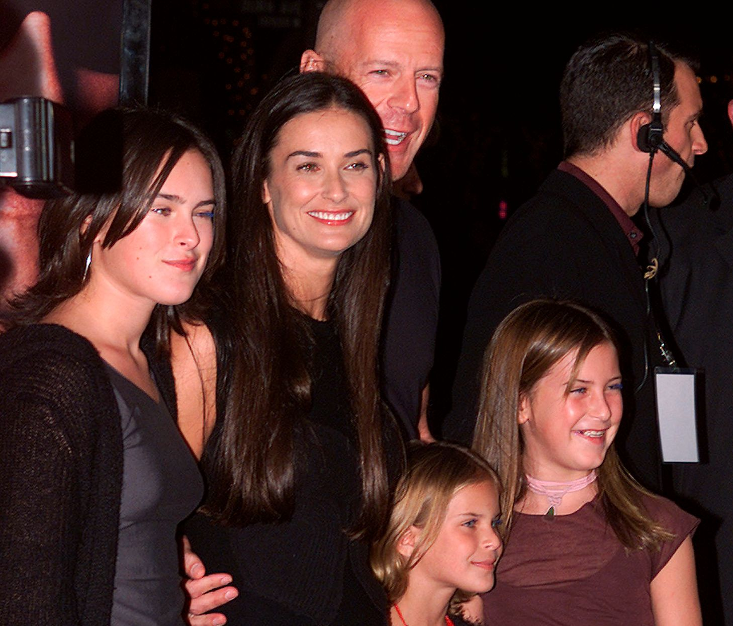 2001: Bruce Willis, Demi Moore og døtrene Rumer, Glenn, Tallulah Belle og Scout Lane på filmpremiere året etter at de ble skilt.