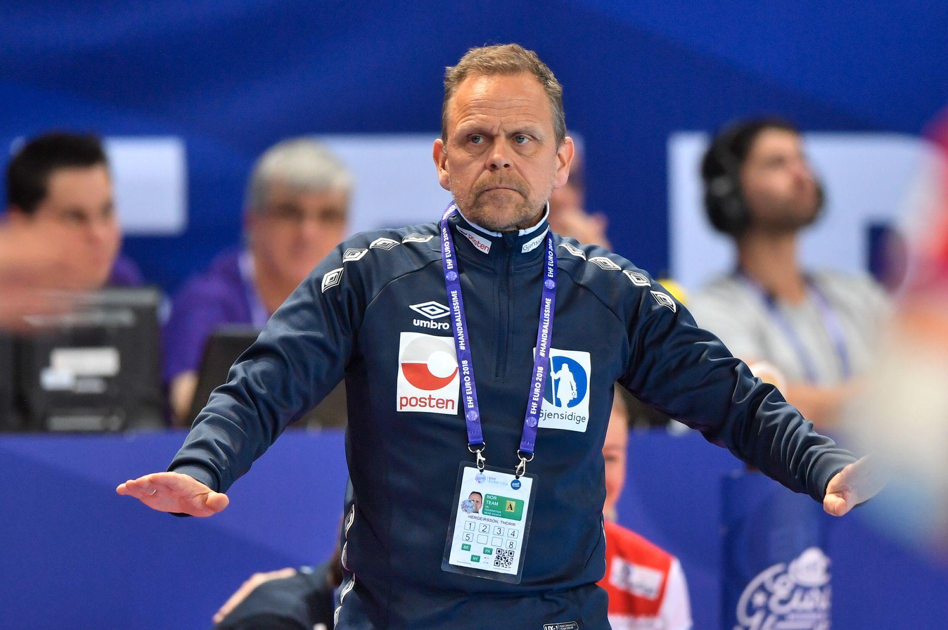 IRRITERT: Landslagssjef Thorir Hergeirsson.