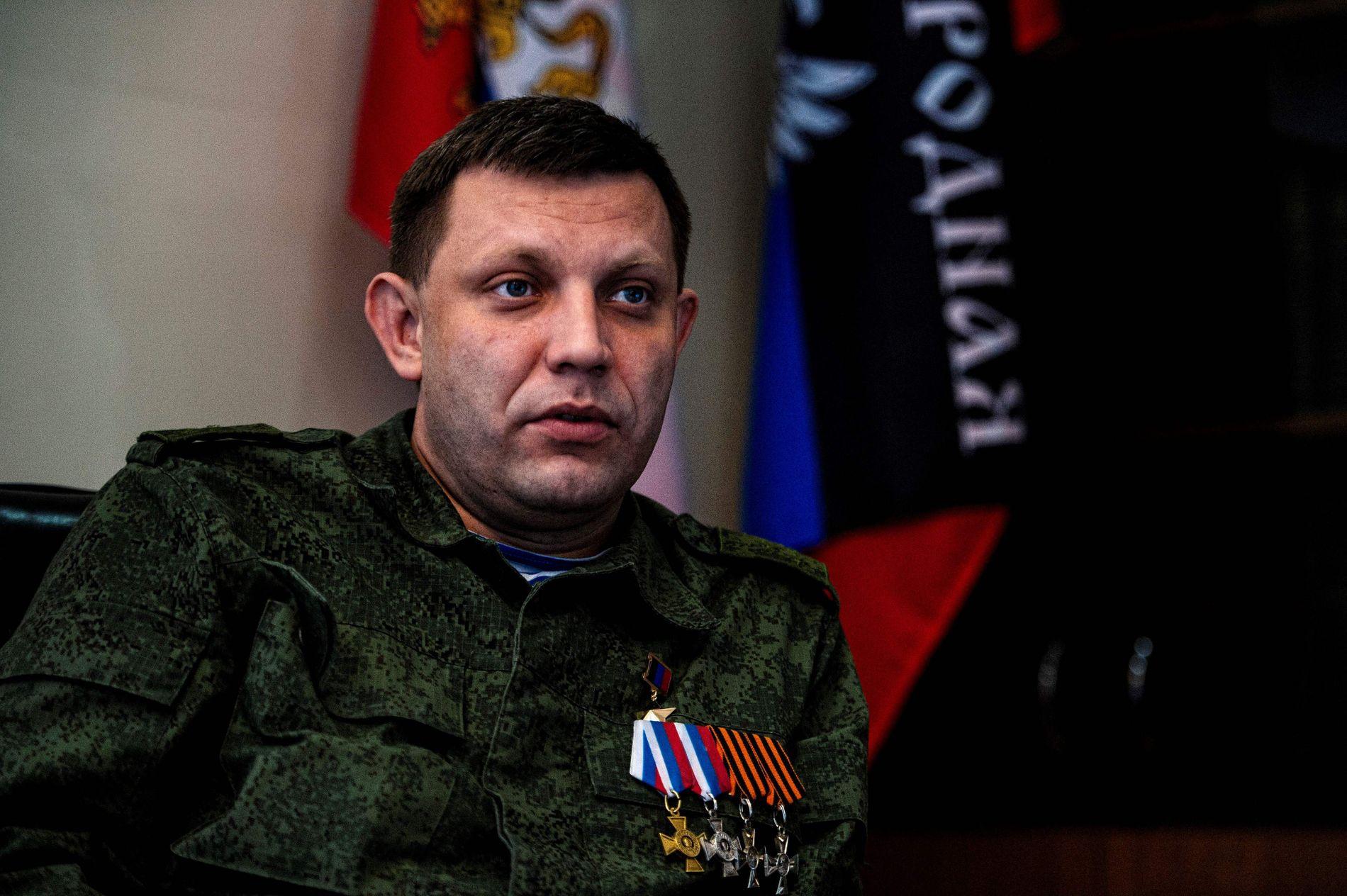 SEPARATISTLEDER: Alexander Zakhartsjenko er statsminister i den selverklærte «Folkerepublikken Donetsk». Her er han fotografert i forbindelse med et intervju i 2015.