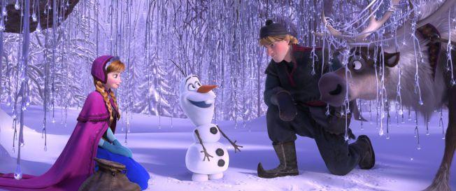 ISKALDT: Anna, Olaf, Kristoff og Sven.