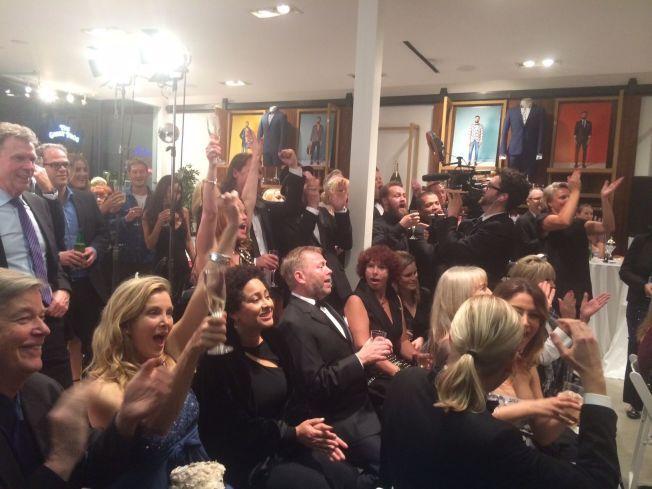 NORSK FEST: Nordmenn feiret Oscar-natten i Los Angeles natt til søndag.