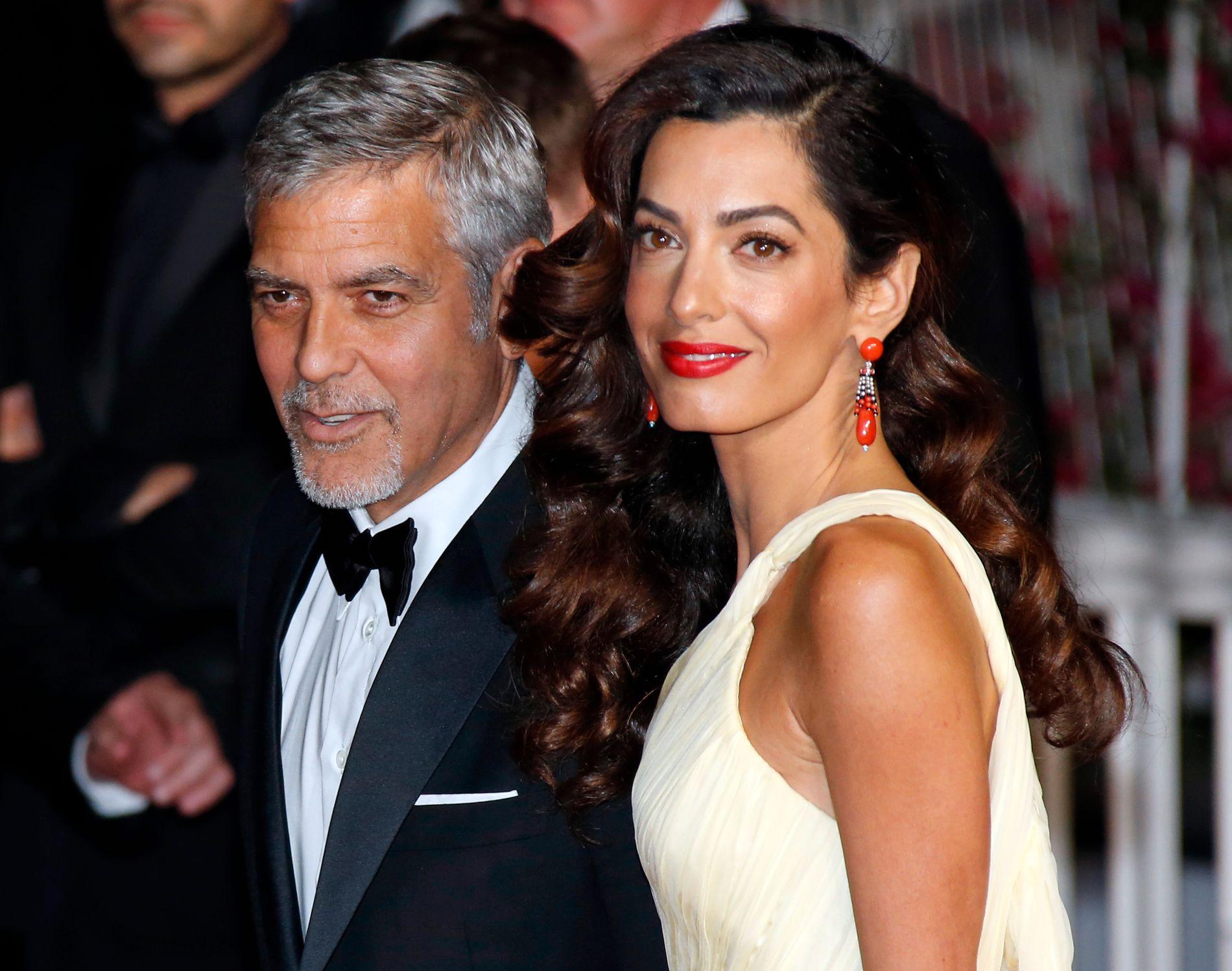 MEKTIG PAR: George og Amal Clooney i Cannes for halvannet år siden.