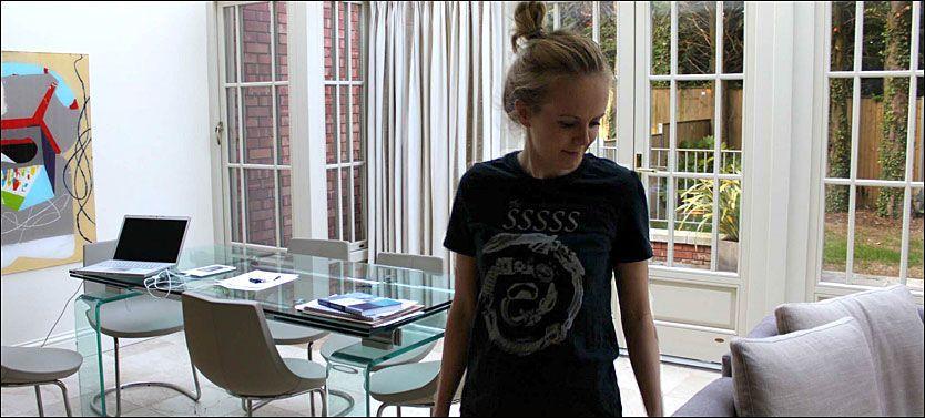 BLOGGHJELP: Kristine Getz skriver om kampen mot spiseforstyrrelsene på sin egen blogg. Foto: Privat