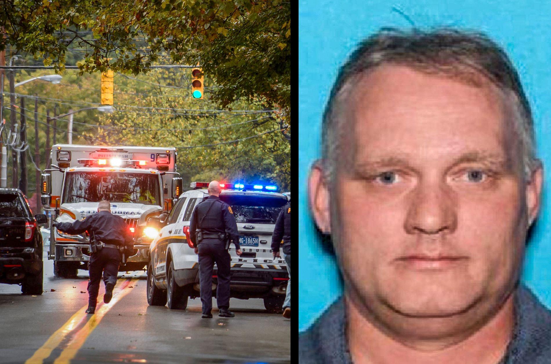 PÅGREPET: Robert Bowers, som ble skadet i skuddvekslingen med politiet.