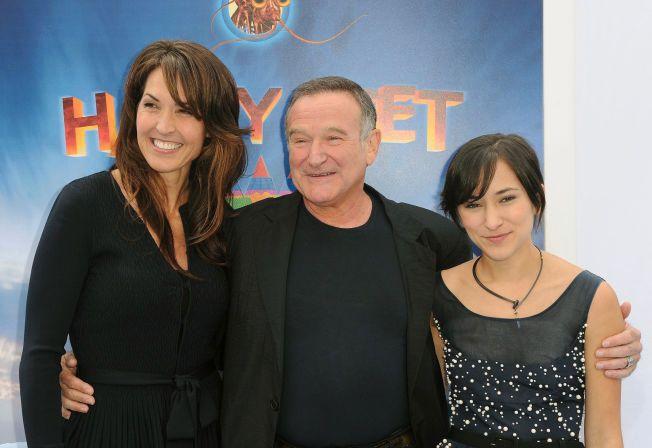 VANT: Susan Schneider krangler med Williams barn om arven. Her med Robin Williams og hans datter Zelda Williams.
