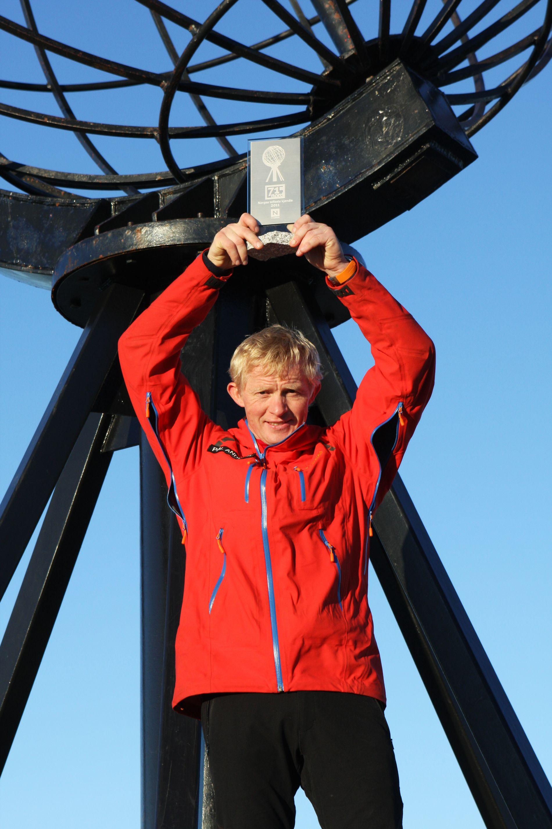 FØRST TIL NORDKAPP: I 2011 var Pål Anders Ullevålseter først til Nordkapp i «71 grader nord - Norges Tøffeste kjendis».