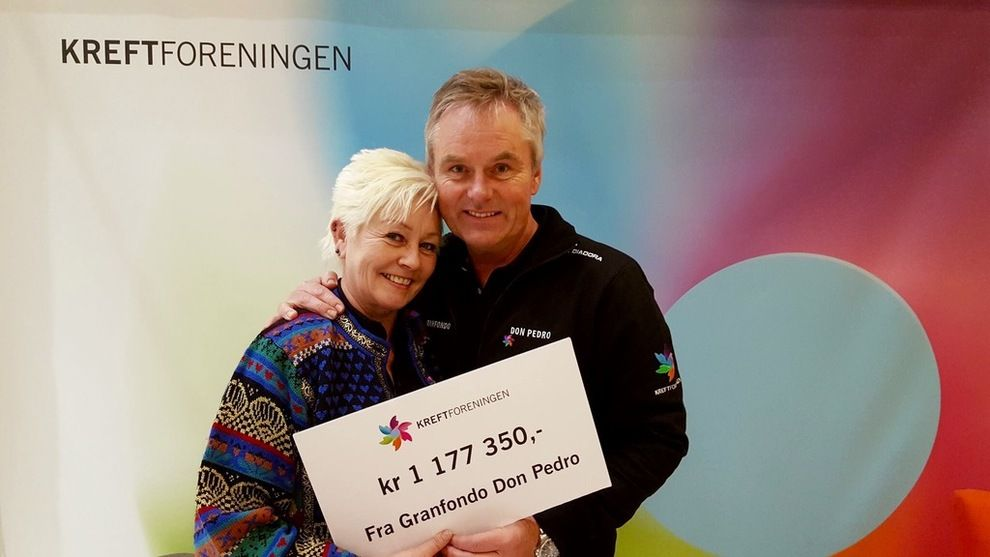 STOLT: Dag Erik Pedersen har samlet inn over én million kroner til kreftsaken. Han sier til VG at han er han lettet over at sykkelforbundet frikjente rittet hans for lisensjuks.