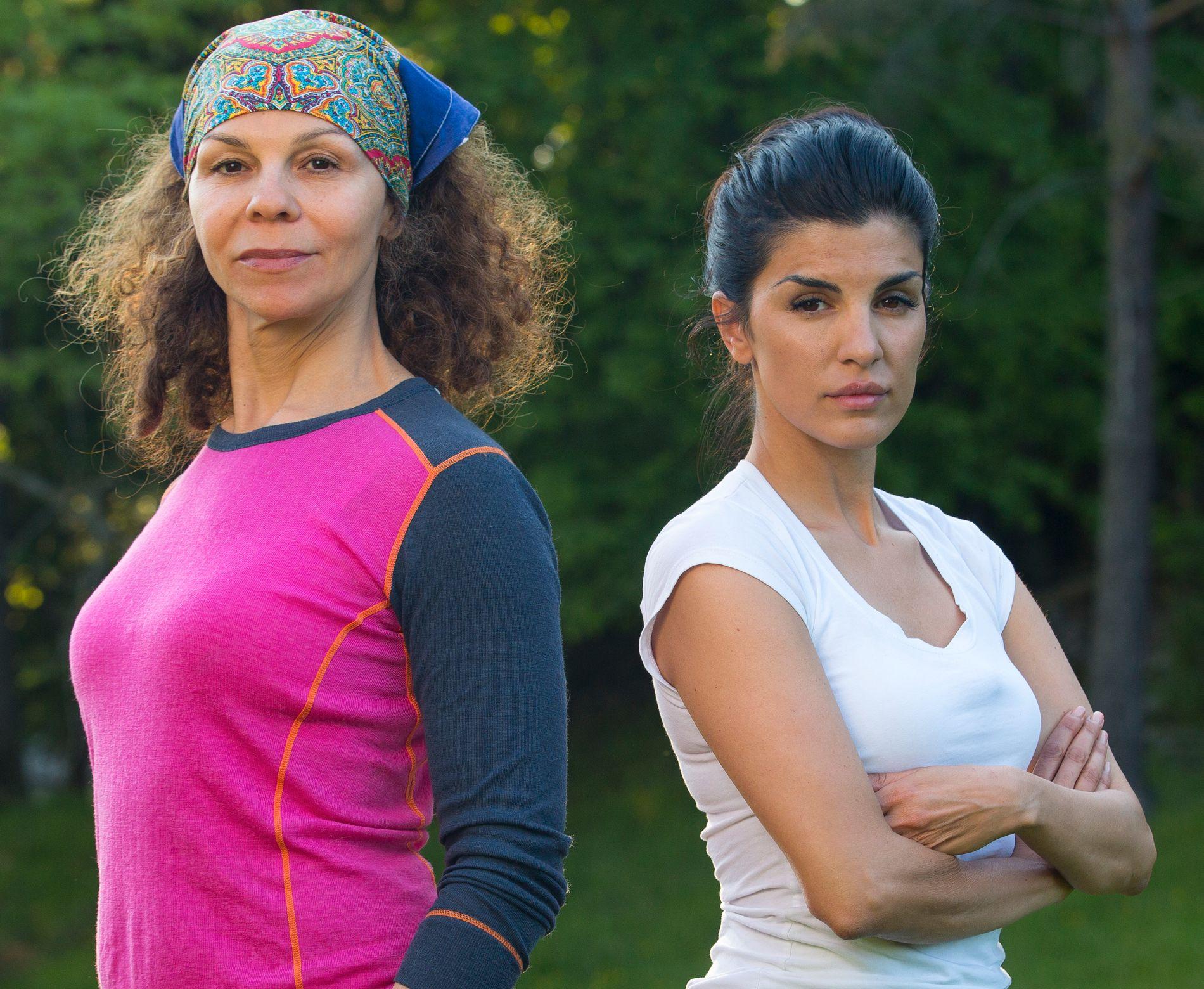 BITRE UVENNER: Kari Jaquesson og Aylar Lie, her før den dramatiske tvekampen søndag.