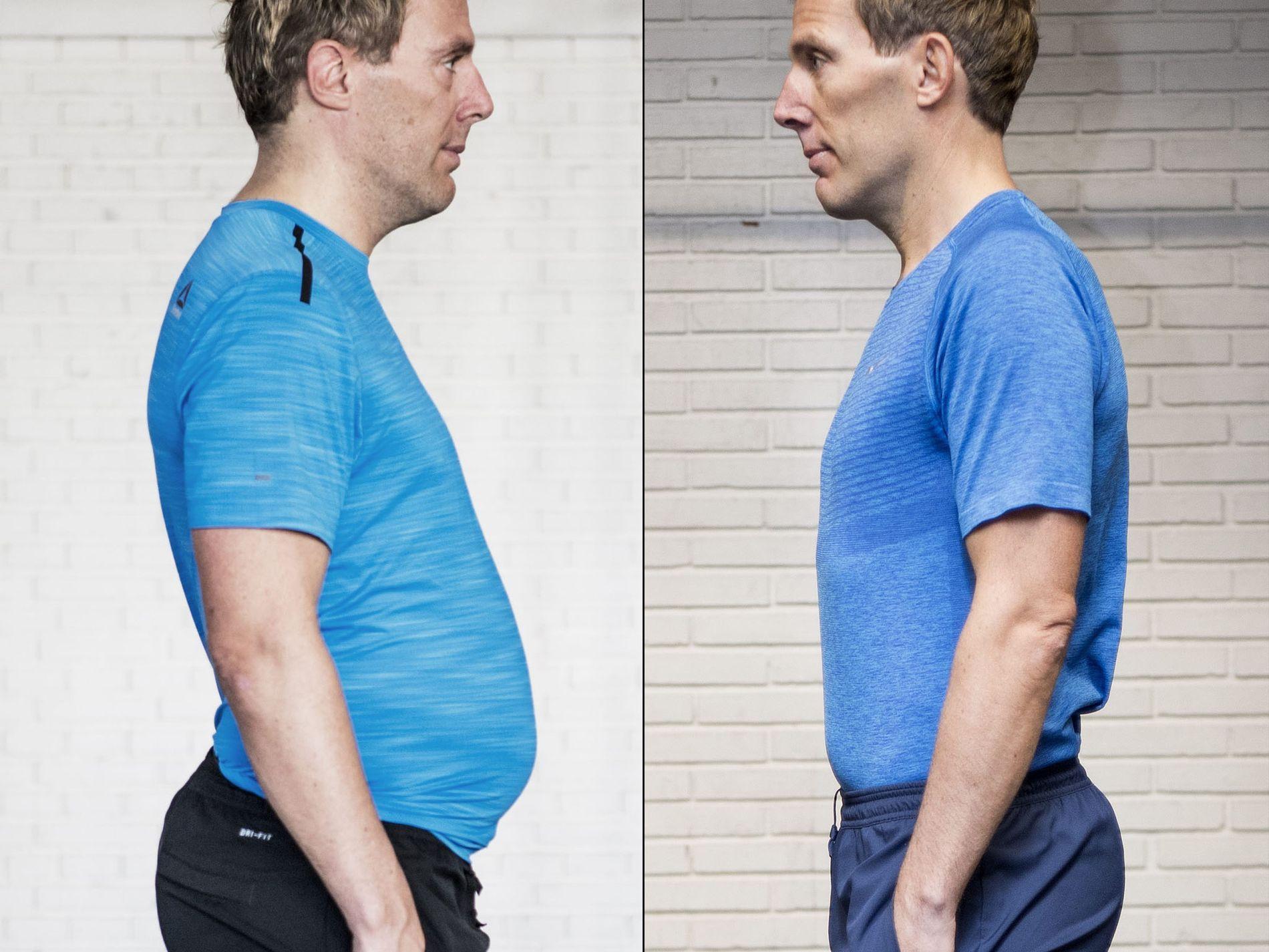 TOK GREP: Etter flere år uten fokus på trening og kosthold, tok Ronnie Poulsen (47) grep. På under en måned ble han kvitt ølmagen, 12 kilo og 13 centimeter rundt mage.