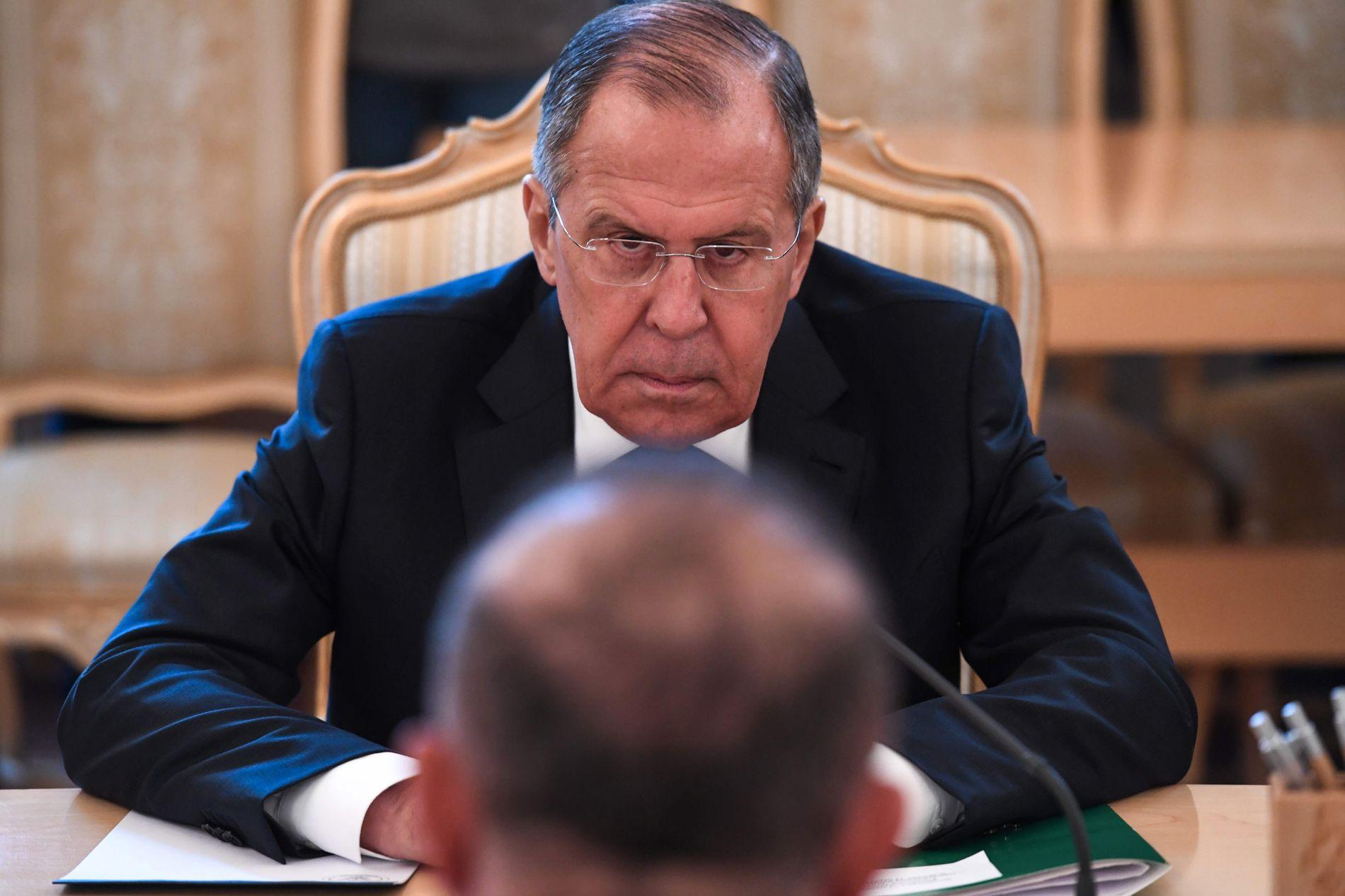 MOTSVARET: Russernes utenriksminister Sergej Lavrov har lenge varslet at de vil svare på britenes utvisning av russiske diplomater.