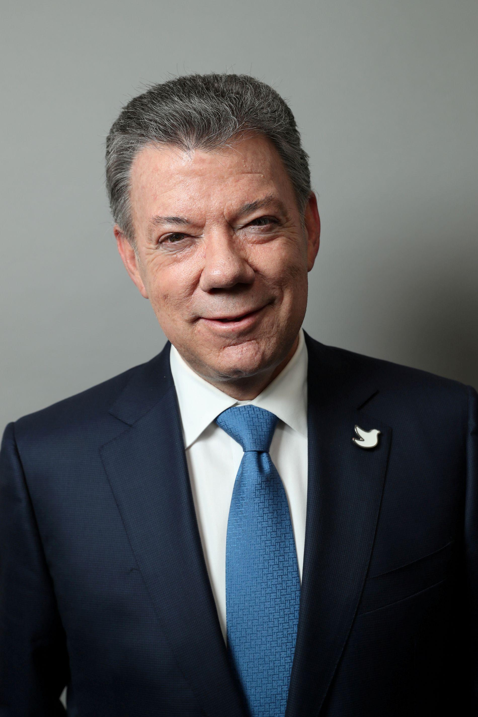 PRESIDENT: Juan Manuel Santos, Colombia.