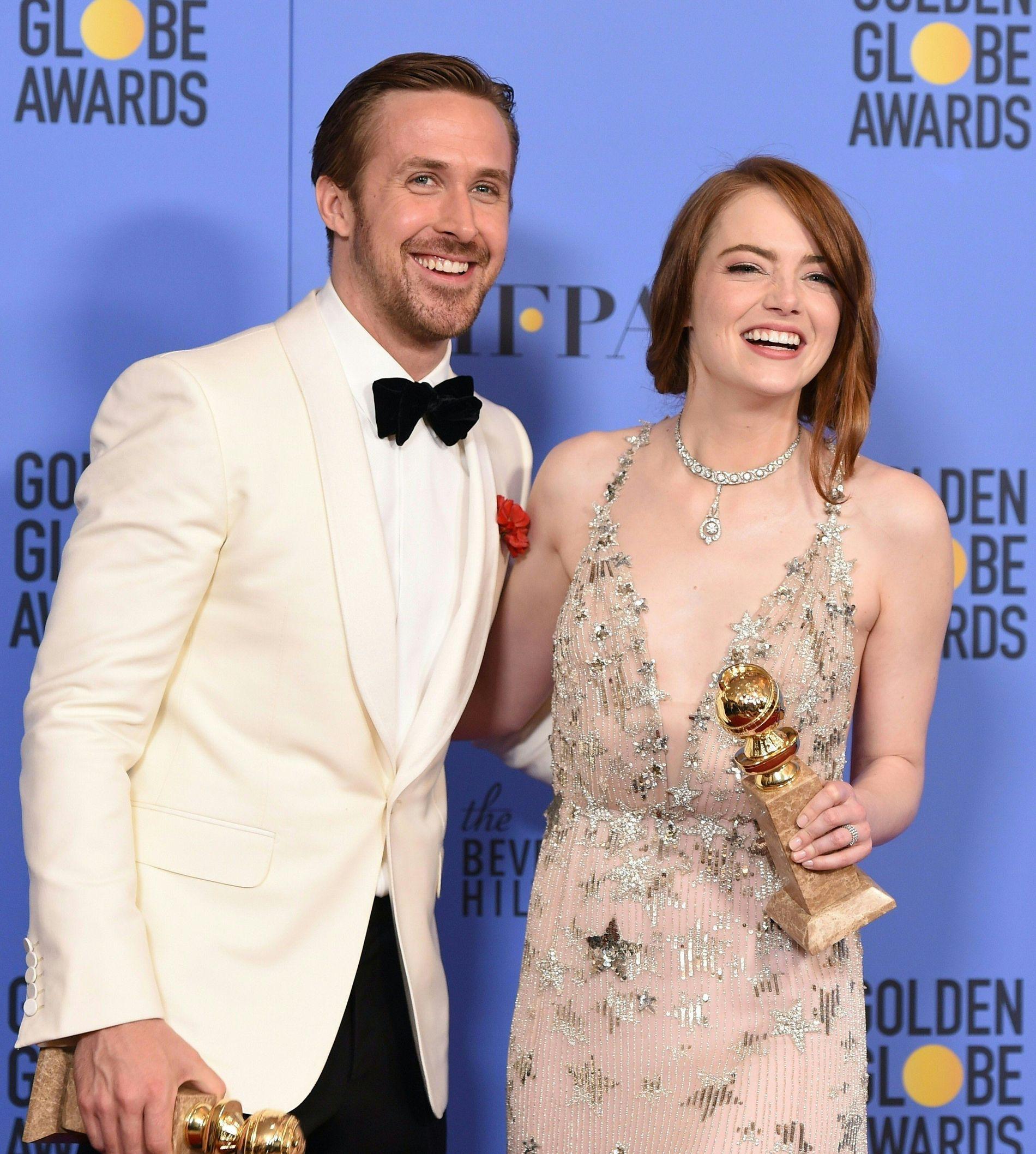 DANSER OG SYNGER: Ryan Gosling og Emma Stone vant begge skuespillerpriser for «La La Land»