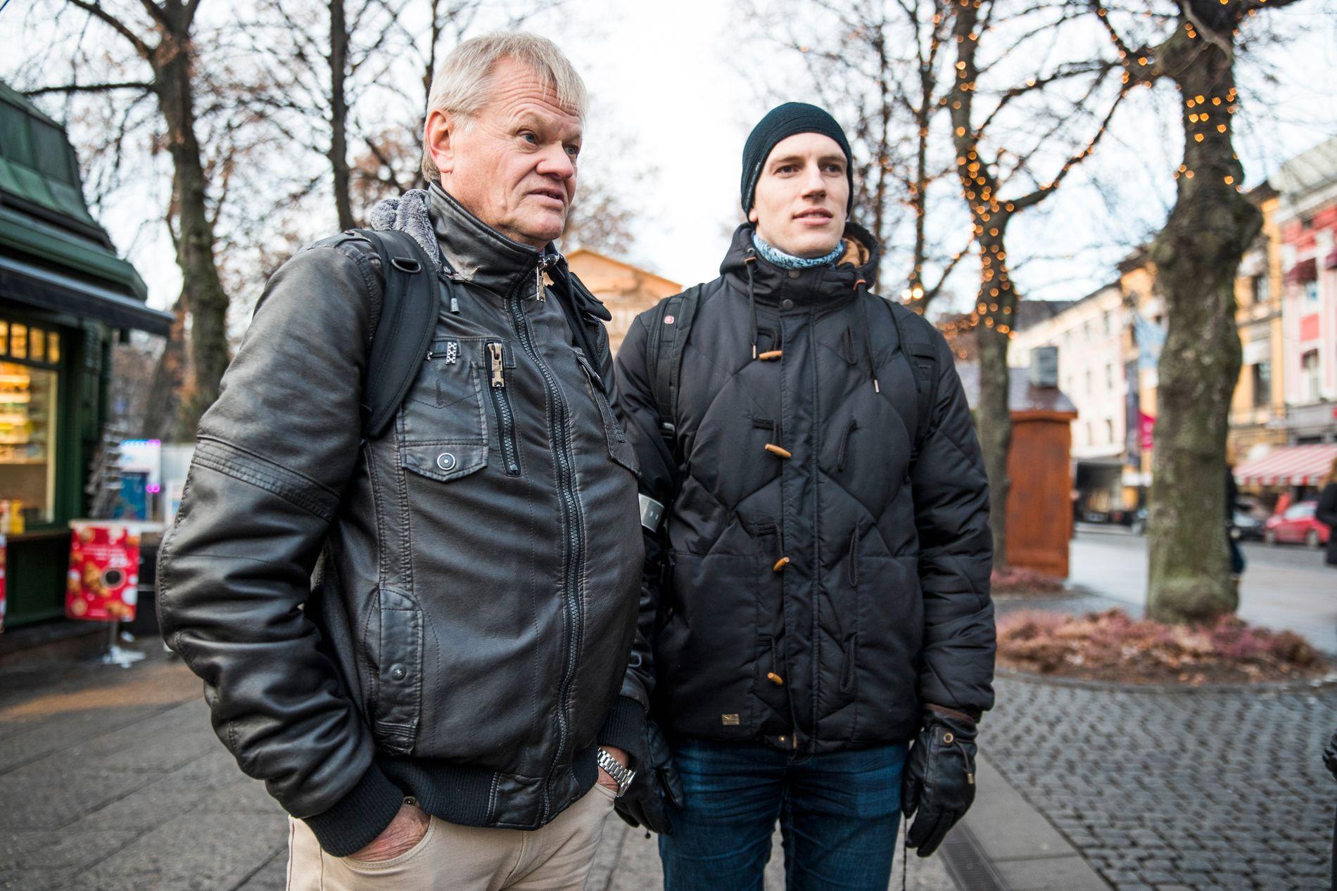 KNALLBRA: Kollegaene Arild og Christian er ikke bekymret for norsk økonomi. Men vi må omstille oss, mener Arild.