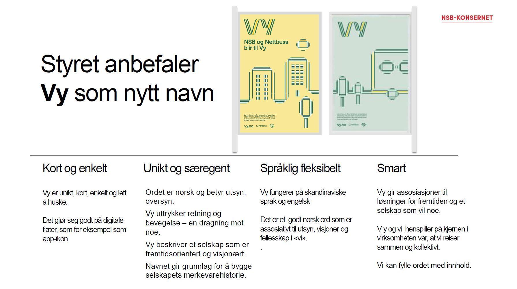 Slik så presentasjonen NSB holdt for Erna Solberg, Siv Jensen og Trine Skei Grande ut.