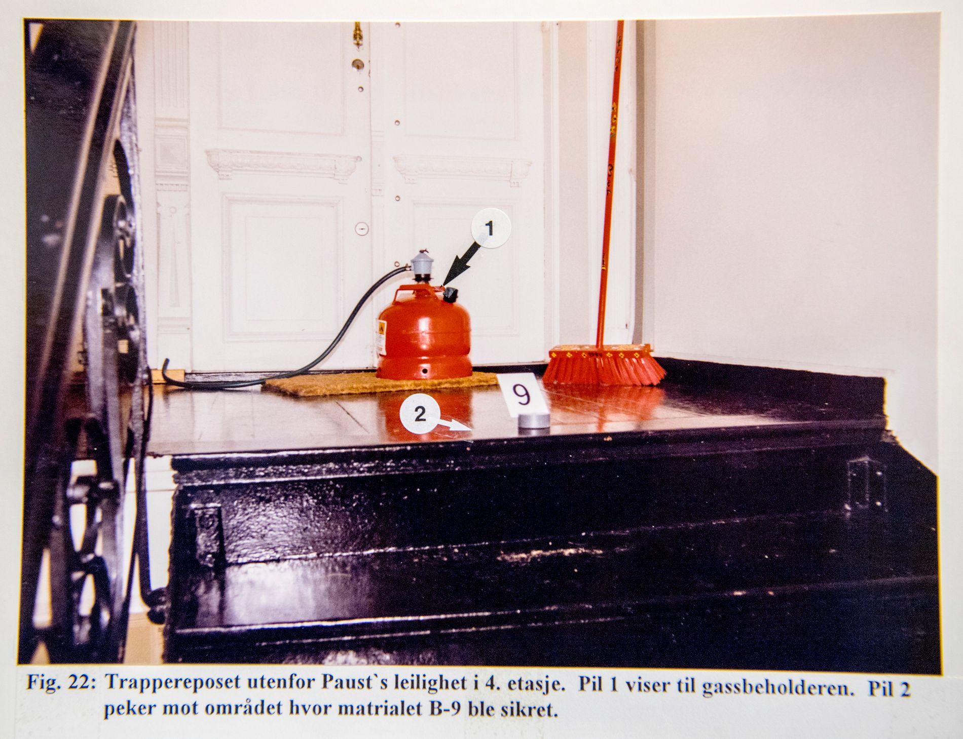 GASSANGREPET: Anne Orderud Paust ble utsatt for to angrep året før hun ble drept. Det ene da det ble funnet en propanbeholder utenfor leiligheten til hun og ektemannen.