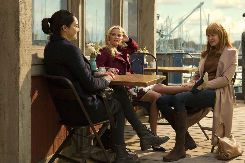 KVINNER OG KRIM: Shailene Woodley, Reese Witherspoon og Nicole Kidman i «Big Little Lies». FOTO: HBO.