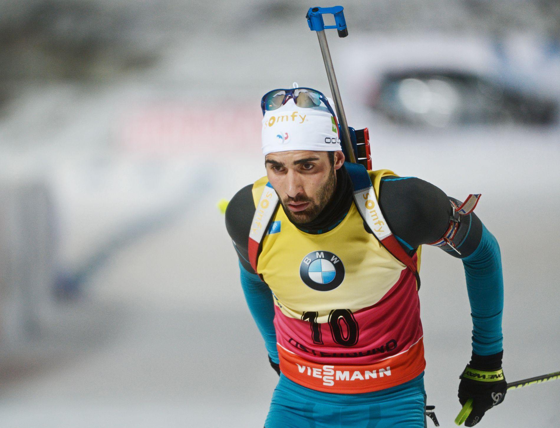 I SORG: Martin Fourcade. Her fra VM i Östersund 2016.